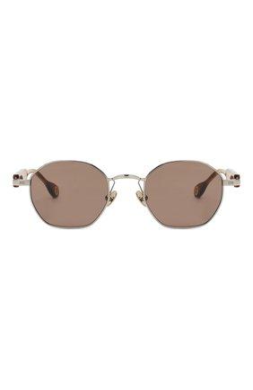 Женские солнцезащитные очки ÉTUDES серебряного цвета, арт. LIBERTE WHITE SILVER RT WITH CHAIN | Фото 5