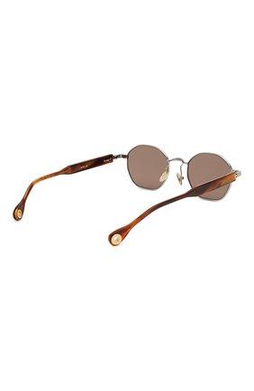 Женские солнцезащитные очки ÉTUDES серебряного цвета, арт. LIBERTE WHITE SILVER RT WITH CHAIN | Фото 6