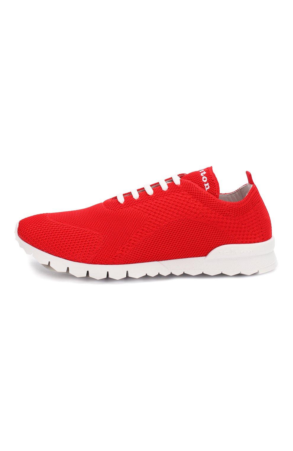 Мужские текстильные кроссовки KITON красного цвета, арт. USSFITSN00609 | Фото 3
