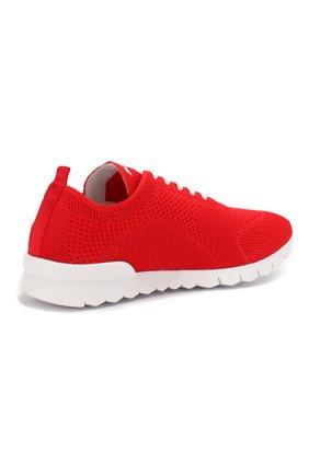 Мужские текстильные кроссовки KITON красного цвета, арт. USSFITSN00609 | Фото 4