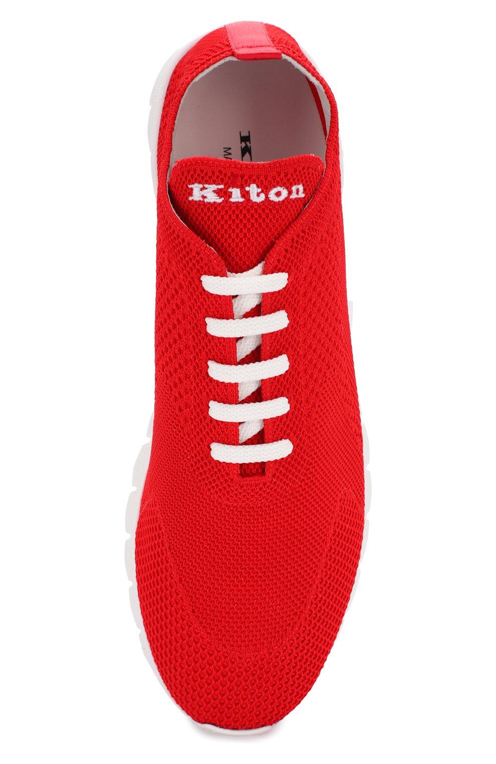 Мужские текстильные кроссовки KITON красного цвета, арт. USSFITSN00609 | Фото 5