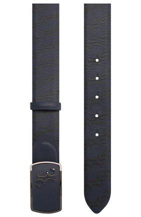 Мужской кожаный ремень BILLIONAIRE темно-синего цвета, арт. I20A MVA0569 BLE029N | Фото 2