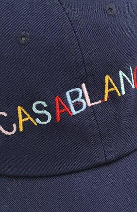 Мужской хлопковая бейсболка CASABLANCA темно-синего цвета, арт. AC20-HAT-002 CASA 0CEAN RES0RT CAP | Фото 2