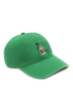 Мужской хлопковая бейсболка CASABLANCA зеленого цвета, арт. AC20-HAT-002 CASA H0TEL CAP | Фото 1