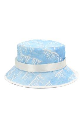 Мужская хлопковая панама CASABLANCA голубого цвета, арт. AC20-HAT-001 SILLAGE BUCKET HAT | Фото 2