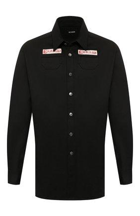 Мужская джинсовая рубашка RAF SIMONS черного цвета, арт. 201-242-10130 | Фото 1
