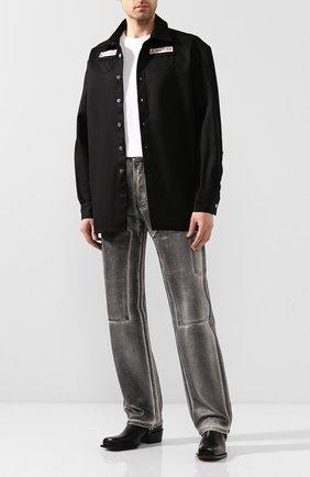 Мужская джинсовая рубашка RAF SIMONS черного цвета, арт. 201-242-10130 | Фото 2