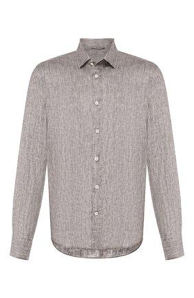 Мужская льняная рубашка VAN LAACK серого цвета, арт. LAD0N1-TFW/155967 | Фото 1