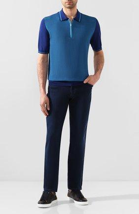 Мужские джинсы ZILLI синего цвета, арт. MCT-ZS011-SP0RT/S001 | Фото 2