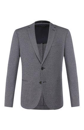 Мужской пиджак из смеси хлопка и вискозы BOSS синего цвета, арт. 50427078 | Фото 1