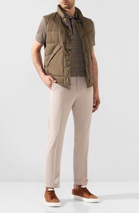 Мужской льняные брюки KITON бежевого цвета, арт. UFPLACJ07S40 | Фото 2