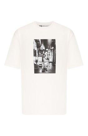 Мужская хлопковая футболка Y-3 белого цвета, арт. FT1373/M | Фото 1