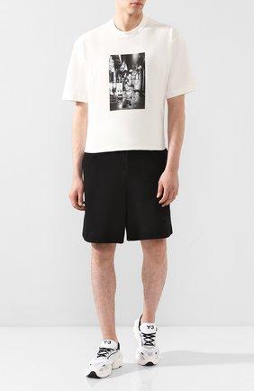 Мужская хлопковая футболка Y-3 белого цвета, арт. FT1373/M | Фото 2