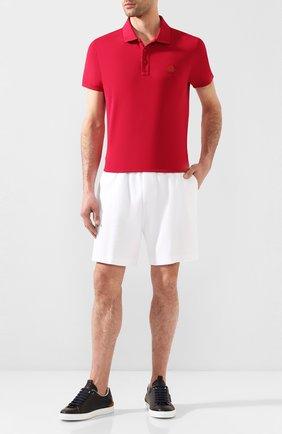 Мужское хлопковое поло MONCLER красного цвета, арт. F1-091-8A710-00-83921 | Фото 2