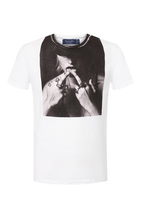 Мужская хлопковая футболка RELIGION белого цвета, арт. 10BKNF02 | Фото 1