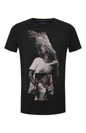 Мужская хлопковая футболка RELIGION черного цвета, арт. 10BPTF02 | Фото 1