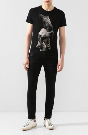 Мужская хлопковая футболка RELIGION черного цвета, арт. 10BPTF02 | Фото 2