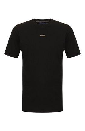 Мужская хлопковая футболка RELIGION черного цвета, арт. 10BRVG95 | Фото 1