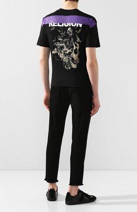 Мужская хлопковая футболка RELIGION черного цвета, арт. 10BRVG95 | Фото 2