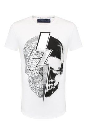 Мужская хлопковая футболка RELIGION белого цвета, арт. 10PLGG18 | Фото 1