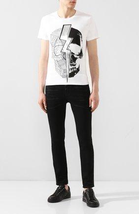 Мужская хлопковая футболка RELIGION белого цвета, арт. 10PLGG18 | Фото 2