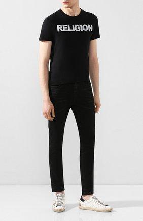 Мужская хлопковая футболка RELIGION черного цвета, арт. 10PRFF02 | Фото 2