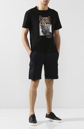 Мужские хлопковые шорты BERWICH темно-синего цвета, арт. BER_MUDA CARG0/CV0193X | Фото 2