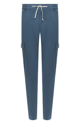 Мужской хлопковые брюки-карго ANDREA CAMPAGNA бирюзового цвета, арт. SUB/PF0350X   Фото 1