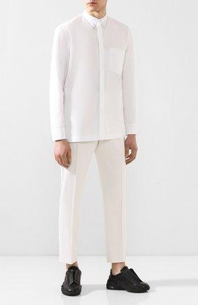 Мужская хлопковая рубашка MAISON MARGIELA белого цвета, арт. S30DL0469/S43001 | Фото 2