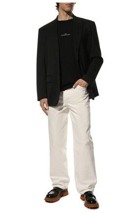 Мужская хлопковая футболка MAISON MARGIELA черного цвета, арт. S30GC0701/S22816 | Фото 2 (Рукава: Короткие; Длина (для топов): Стандартные; Материал внешний: Хлопок; Принт: С принтом; Стили: Минимализм)