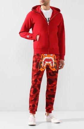 Мужской хлопковые джоггеры BAPE красного цвета, арт. 1G30152003 | Фото 2