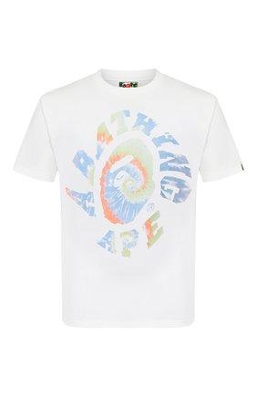 Мужская хлопковая футболка BAPE белого цвета, арт. 1G30110086 | Фото 1