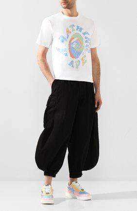 Мужская хлопковая футболка BAPE белого цвета, арт. 1G30110086 | Фото 2