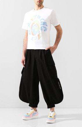 Мужской хлопковые брюки BAPE черного цвета, арт. 1G20152004   Фото 2