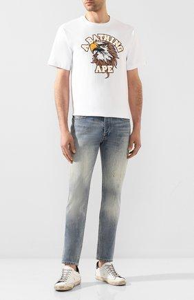 Мужская хлопковая футболка BAPE белого цвета, арт. 1G20110032 | Фото 2