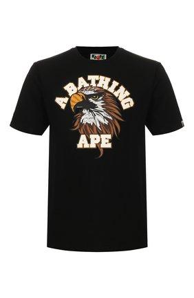 Мужская хлопковая футболка BAPE черного цвета, арт. 1G20110032 | Фото 1