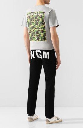 Мужская хлопковая футболка BAPE серого цвета, арт. 1G20110009 | Фото 2