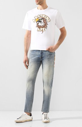 Мужские джинсы BAPE синего цвета, арт. 1F20150005 | Фото 2