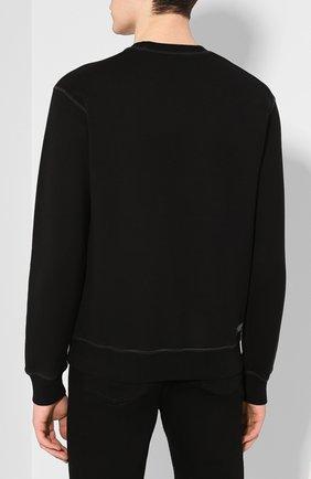 Мужской хлопковый свитшот DSQUARED2 черного цвета, арт. S71GU0375/S25042 | Фото 4