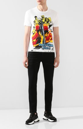 Мужская хлопковая футболка DSQUARED2 белого цвета, арт. S71GD0902/S22507 | Фото 2