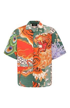 Мужская хлопковая рубашка DSQUARED2 разноцветного цвета, арт. S71DM0405/S52839 | Фото 1