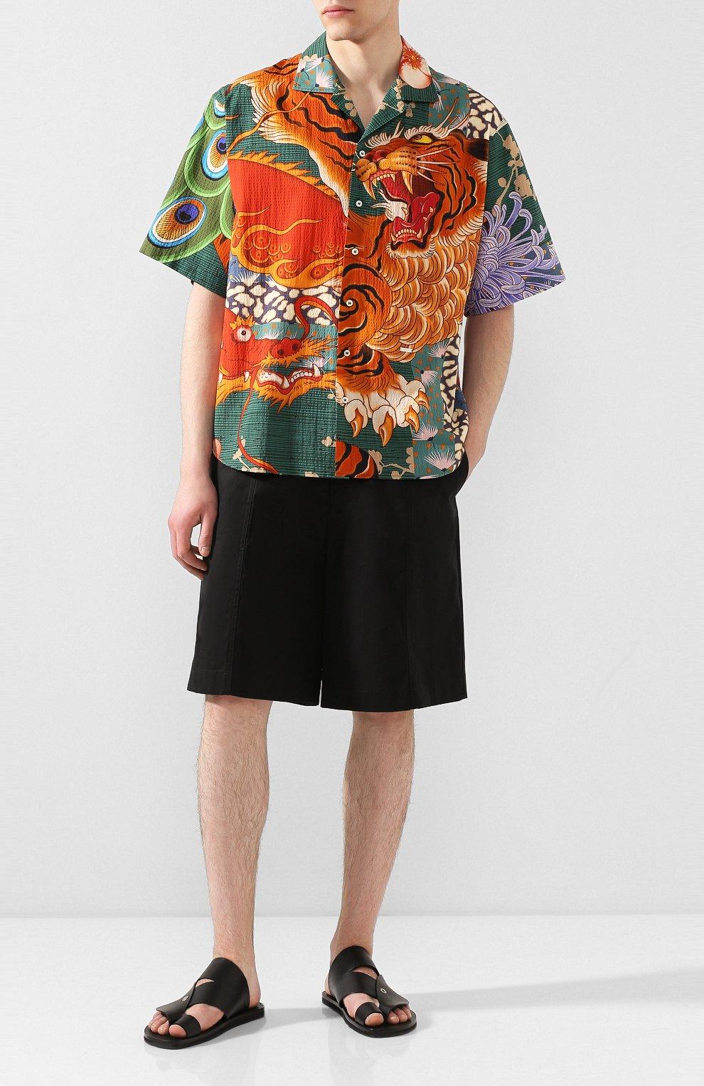 Мужская хлопковая рубашка DSQUARED2 разноцветного цвета, арт. S71DM0405/S52839 | Фото 2