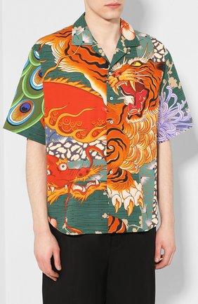 Мужская хлопковая рубашка DSQUARED2 разноцветного цвета, арт. S71DM0405/S52839 | Фото 3