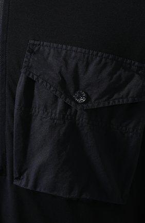 Мужской хлопковое худи STONE ISLAND темно-синего цвета, арт. 7215636F3 | Фото 5