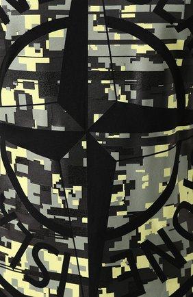 Мужская хлопковая футболка STONE ISLAND черного цвета, арт. 721523387 | Фото 5