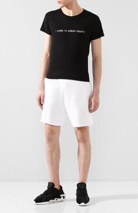 Мужская хлопковая футболка NASASEASONS черного цвета, арт. T017B/I CAME T0 BREAK HEARTS | Фото 2