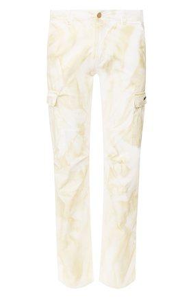 Мужской хлопковые брюки-карго NASASEASONS белого цвета, арт. P006C/DUST DYE | Фото 1