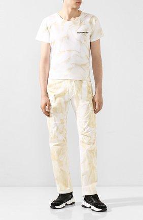 Мужской хлопковые брюки-карго NASASEASONS белого цвета, арт. P006C/DUST DYE | Фото 2