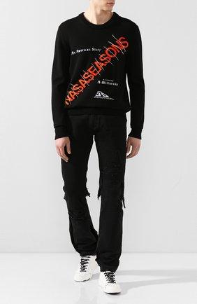 Мужской шерстяной  свитер NASASEASONS черного цвета, арт. SW006B/AMERICAN ST0RY W00L | Фото 2