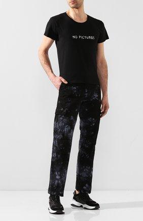 Мужская хлопковая футболка NASASEASONS черного цвета, арт. T018B/N0 PICTURES | Фото 2